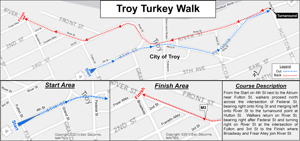 Turkey Walk Map